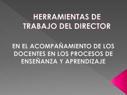 HERRAMIENTAS DE TRABAJO DEL DIRECTOR