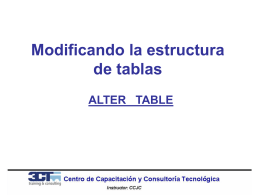 Modificando la estructura de tablas