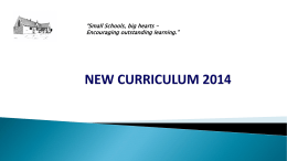 NEW CURRICULUM 2014