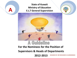 State of Kuwait Ministry of Education E.L.T General