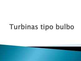 Turbinas tipo bulbo