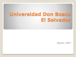 Universidad Don Bosco El Salvador