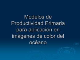 Modelos de Productividad Primaria