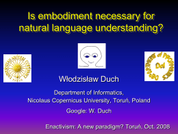 Is Embodiment necessary for Language