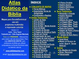 Bible Class Atlas - ESTUDOS DA PALAVRA DE DEUS