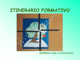 ITINERARIO FORMATIVO - Dominicas de la anunciata