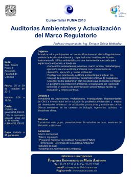 Diapositiva 1 - PUMA: Programa Universitario de Medio