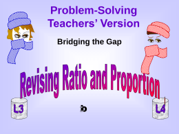 Ratio and proportion: teachers version - BGfL