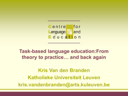 Task-based language education:From theory to practice…