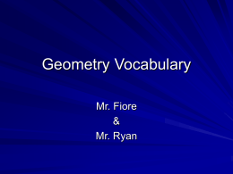 Geometry Vocabulary - Powerpoint Presentations for …