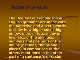 Degrees of Comparison - Home