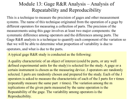 Gage R&R Analysis - Central Michigan University