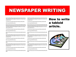 Newspaper Writing - Powerpoint Presentations for teachers