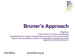 Bruner's Approach - Psychlology Teaching Resources from