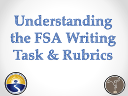 Understanding the FSA Writing Rubrics
