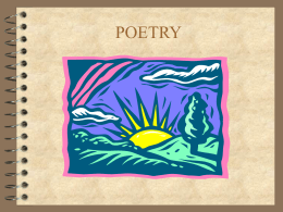 Poetry Unit PPT