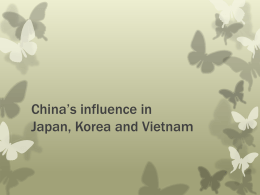 China 's influence in Japan, Korea and Southeast Asia