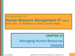 Chapter 015 Managing Human Resources Globally