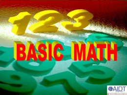 Basic Math . ppt