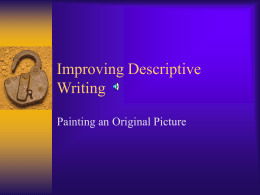 Improving Descriptive Writing