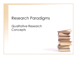 Research Paradigms - California State University, Fresno