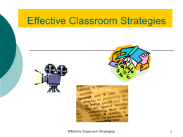 Using the 9 Instructional Strategies