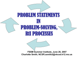 PROBLEM STATEMENTS - My Illinois State