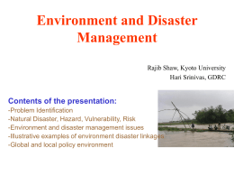 Environment and Disaster Management