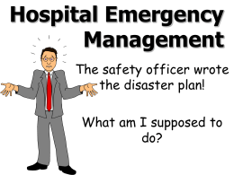 Hospital Emergency Management