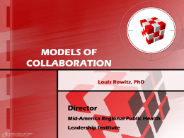 MODELS OF COLLABORATION - University of Illinois at …