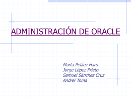 Seguridad en Oracle