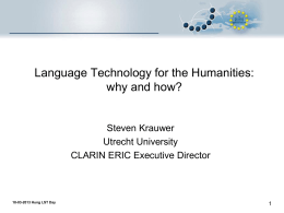 Language technology for the soft sciences
