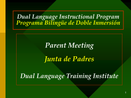 Bilingual Education - Dual Language Training Institute