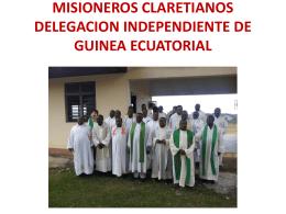 MISIONEROS CLARETIANOS DELEGACION …