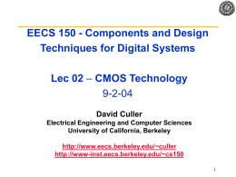 Lecture1 Introduction - University of California, Berkeley