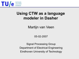 Using CTW in Dasher - University of Cambridge