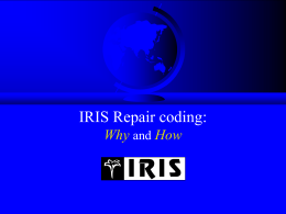 Repair Information on A/V products - IRIS-Code