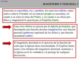 MAGISTERIO Y TEOLOGIA, 1