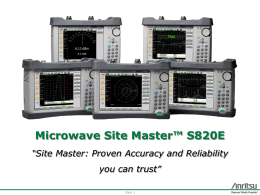 Microwave Site Master™ S820E - TECH