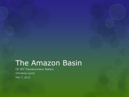 The Amazon Basin - University of Texas at Austin
