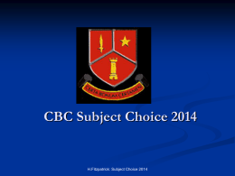 Subject Choice & Career Choice