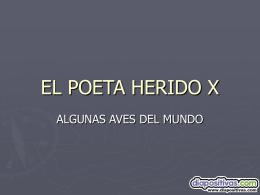 EL POETA HERIDO X
