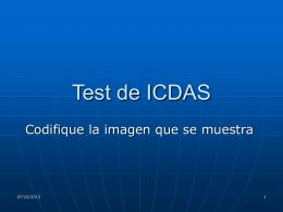 Test de ICDAS - Salud Dental Para Todos. Sitio dedicado a