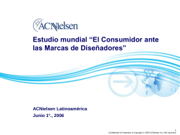ACNielsen Global Consumer Confidence & Opinions Survey
