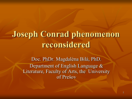 Joseph Conrad phenomenon reconsidered