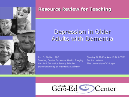 Strengthening Aging and Gerontology Education for Social