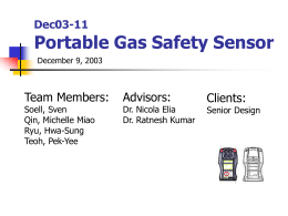 Dec03-11 Potable Gas Safety Sensor November 6, 2003