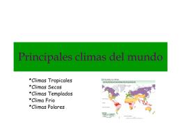 Principales climas del mundo