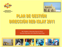 PLAN DE TRABAJO DIRECCION DE RED ISLAY 2010