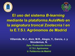 El uso del sistema B-learning mediante la plataforma